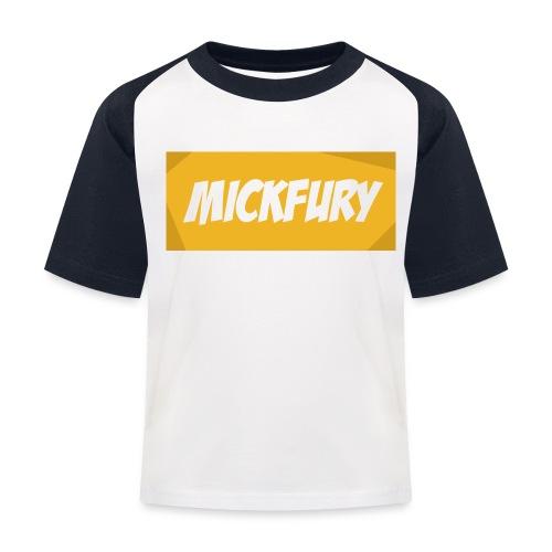 Mickfury Name - Yellow - Kids' Baseball T-Shirt