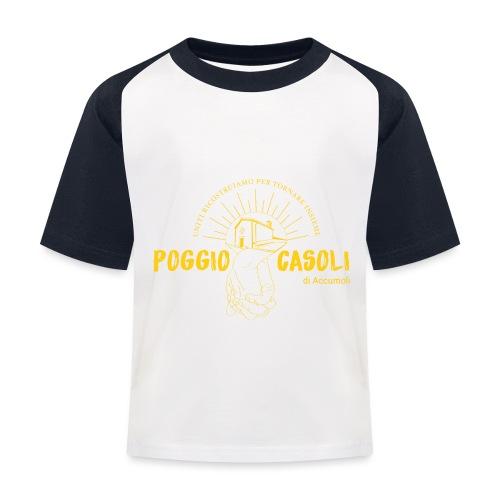 Poggio Casoli_Istituzionale_Giallo - Maglietta da baseball per bambini