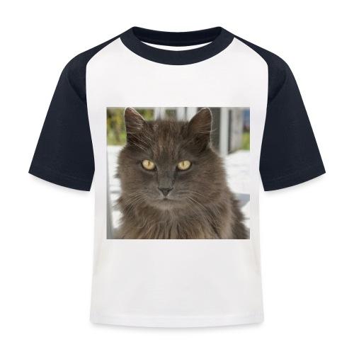Kater Bärli - Kinder Baseball T-Shirt