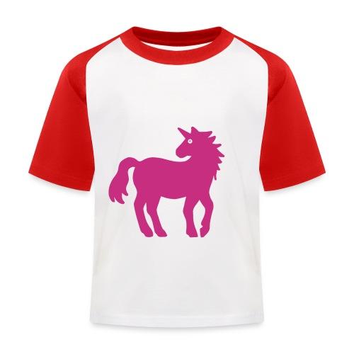 Einhorn - Kinder Baseball T-Shirt