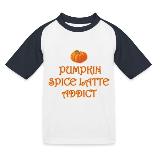 PumpkinSpiceAddict - Maglietta da baseball per bambini