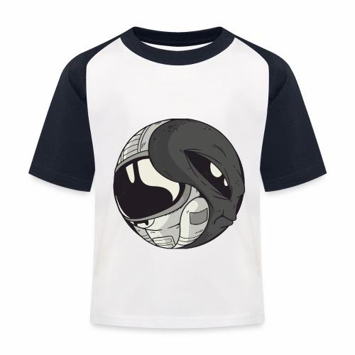 Yin Yang space Alien und Astronaut - Kinder Baseball T-Shirt