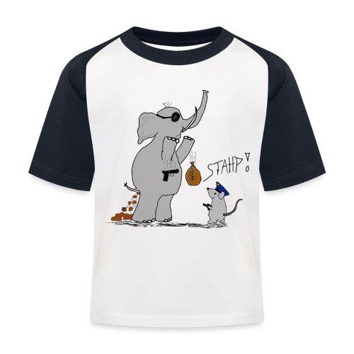 Bankraub Fail - Kinder Baseball T-Shirt