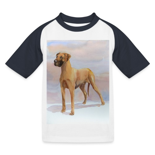 Great Dane Yellow - Baseball T-shirt til børn