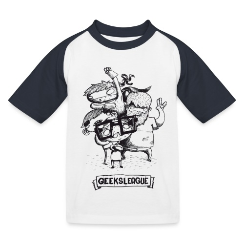 Illu Geeksleague - T-shirt baseball Enfant