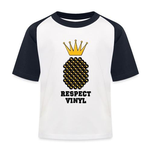 Kings & Queens • Respect Vinyl - Kinder Baseball T-Shirt