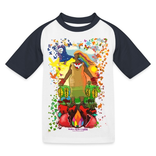 Mother Earth Creating - Kinderen baseball T-shirt