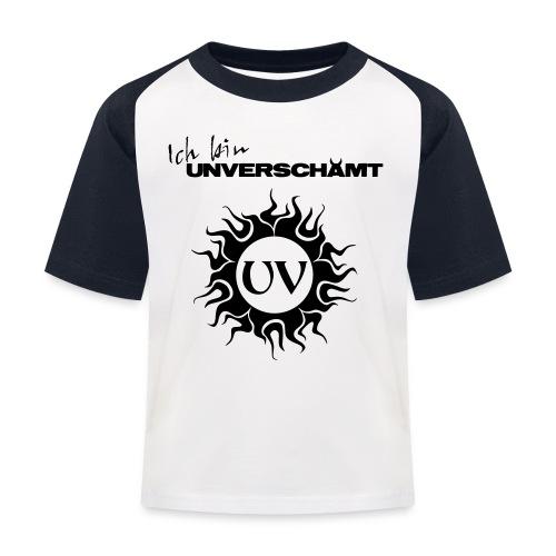 Ich bin UNVERSCHÄMT inkl Logo - Kinder Baseball T-Shirt