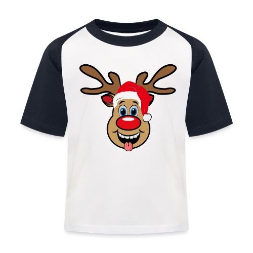 Team Rudolph Rudi Reindeer - Kinder Baseball T-Shirt