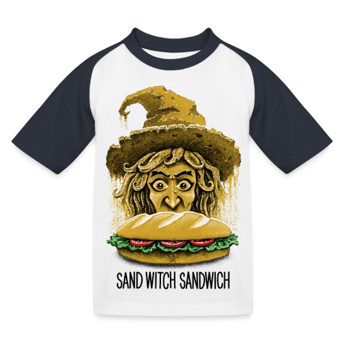 Sand Witch Sandwich V1 - Kids' Baseball T-Shirt
