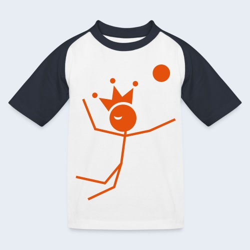 Volleybalkoning - Kinderen baseball T-shirt