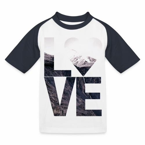 L.O.V.E - Mountains - Kinder Baseball T-Shirt