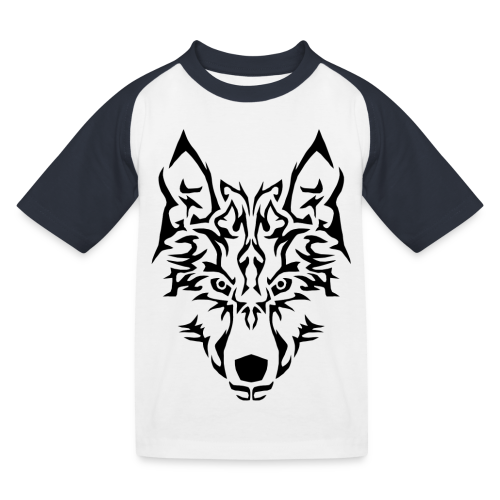 Tribal Wolf - T-shirt baseball Enfant