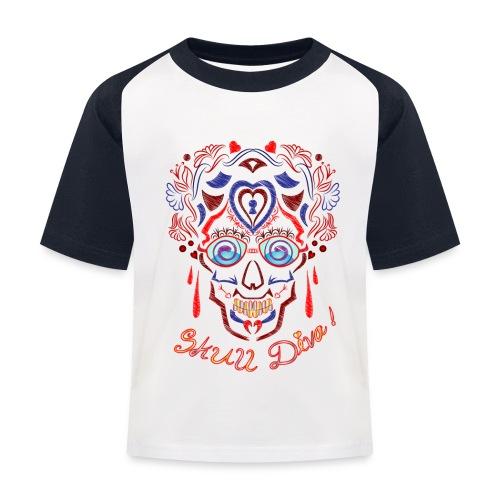Skull Tattoo Art - Kids' Baseball T-Shirt