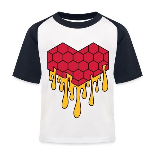 Honey heart cuore miele radeo - Maglietta da baseball per bambini