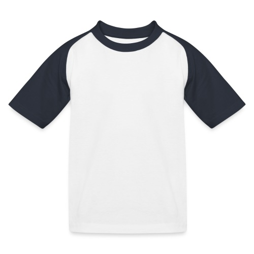 Brand Logo White by Nut & Bolt Apparel - Kids' Baseball T-Shirt