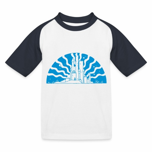 Fairytale Castle Sunrise - Kinder Baseball T-Shirt