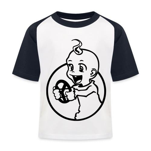 Der kleine Rennfahrer - Kinder Baseball T-Shirt