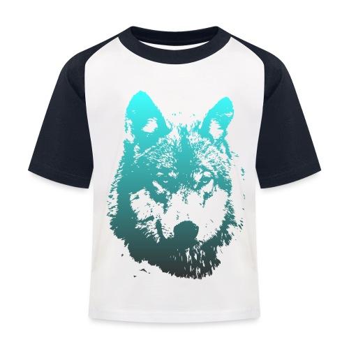 illustration tete de loup - T-shirt baseball Enfant