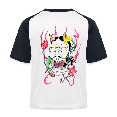 hannya mask - Kids' Baseball T-Shirt