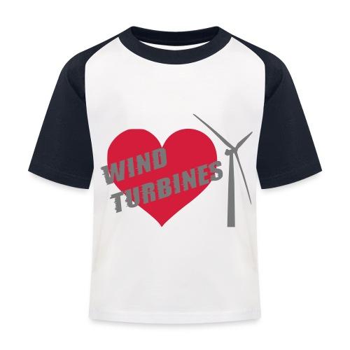 wind turbine grey - Kids' Baseball T-Shirt