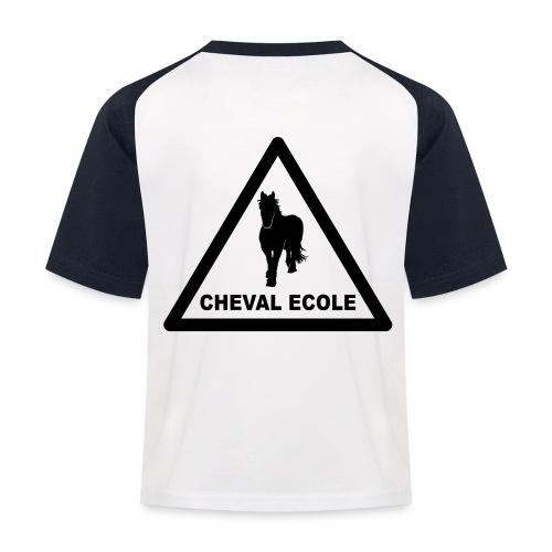 chevalecoletshirt - T-shirt baseball Enfant