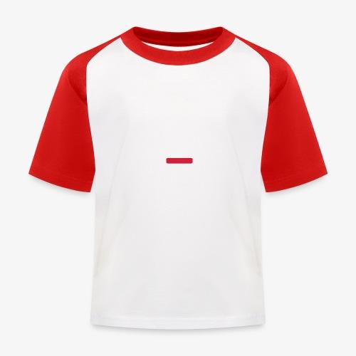 deplogo1neg red - Baseball-T-skjorte for barn