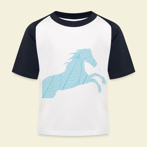 Cheval feuille - T-shirt baseball Enfant