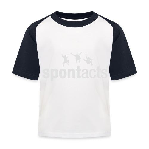 spontacts_Logo_weiss - Kinder Baseball T-Shirt