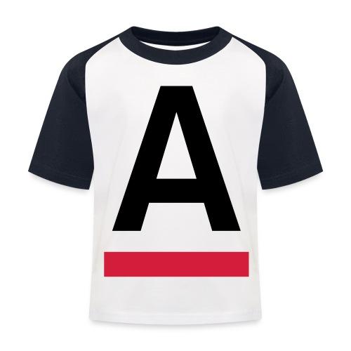 Alliansfritt Sverige A logo 2013 Färg - Baseboll-T-shirt barn