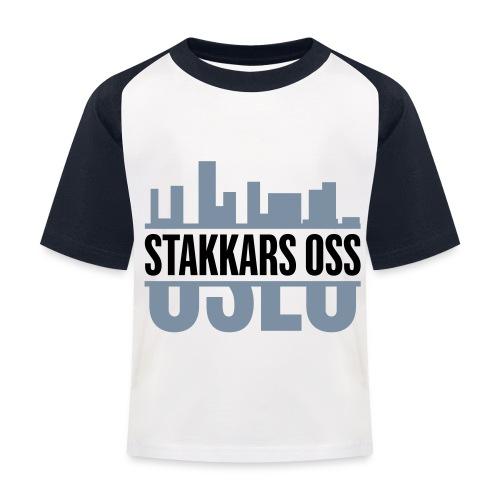 stakkars oss logo 2 ny - Baseball-T-skjorte for barn