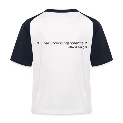 Ju jutsu kai förslag 1 version 1 svart text - Baseboll-T-shirt barn