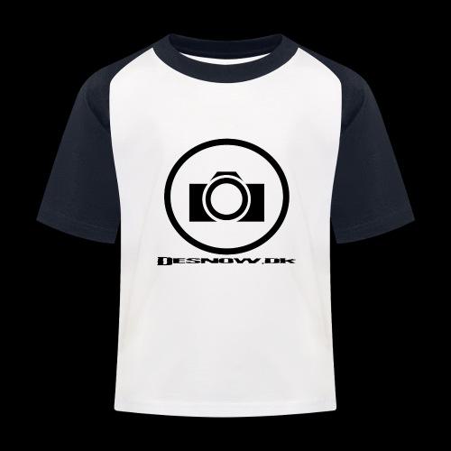 sort2 png - Baseball T-shirt til børn