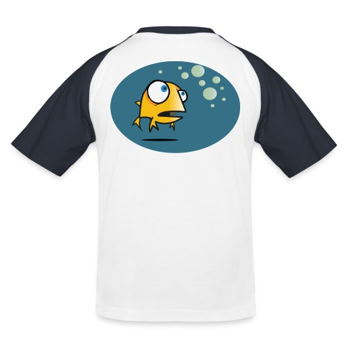 Fishy bubbles - Kinderen baseball T-shirt