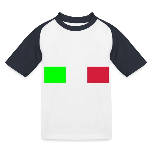 Italia Italy flag - Kids' Baseball T-Shirt