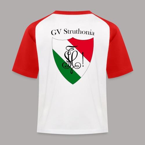 Wappen Struthonia beschriftet - Kinder Baseball T-Shirt