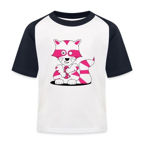 randolpf the raging racoon Digitalmotiv - Kinder Baseball T-Shirt