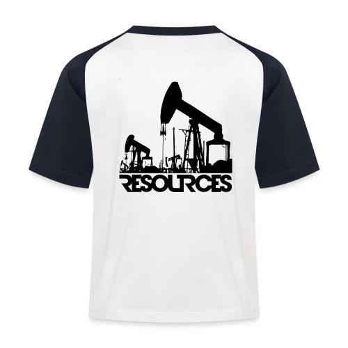 App Icon randlos schwarz - Kinder Baseball T-Shirt