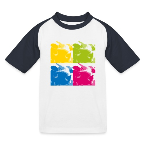 4 Kühe - Kinder Baseball T-Shirt