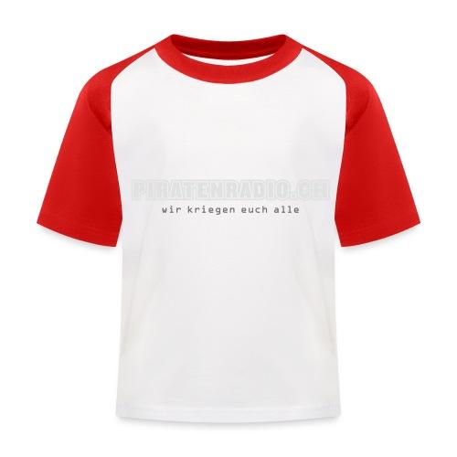 logo piratenradio claim 25cm neg - Kinder Baseball T-Shirt