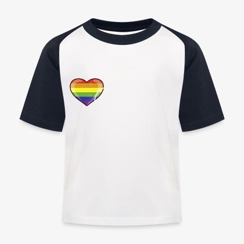 Get over it Herz weiß - Kinder Baseball T-Shirt