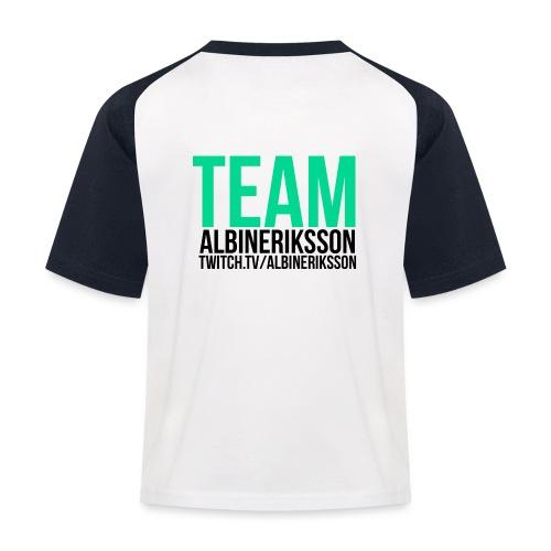 Team albinerikss0n Svart - Baseboll-T-shirt barn