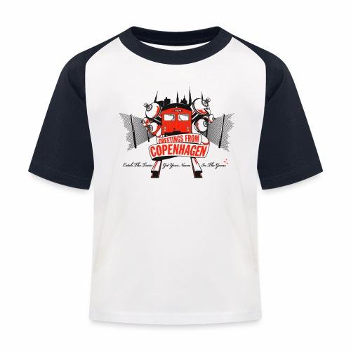 Greetings from CPH ver01 - Baseball T-shirt til børn