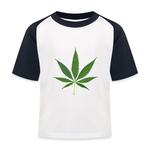 2000px-Cannabis_leaf_2 - Baseball T-shirt til børn