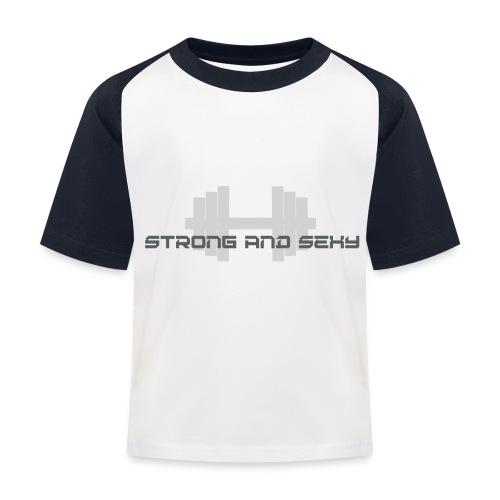 sasdumbell3 png - Kinderen baseball T-shirt