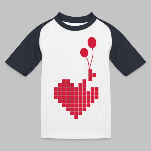 heart and balloons - Kids' Baseball T-Shirt