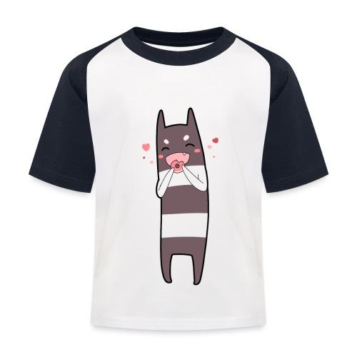 Donut Monster - Kids' Baseball T-Shirt