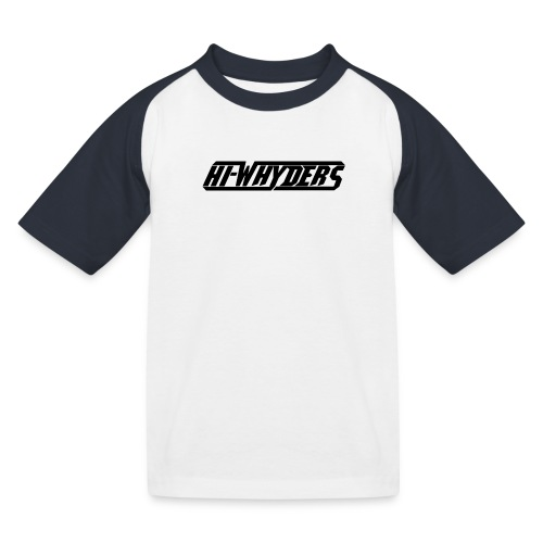 hiwhyders logo black - Lasten pesäpallo  -t-paita