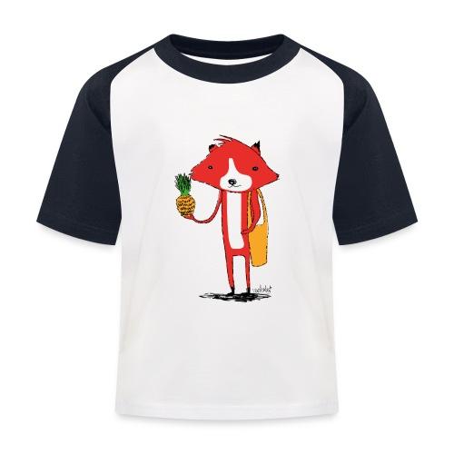 Ananasfüchslein - Kinder Baseball T-Shirt