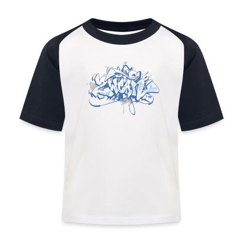 Dae 2Wear graffiti style ver01 blue edt - Baseball T-shirt til børn